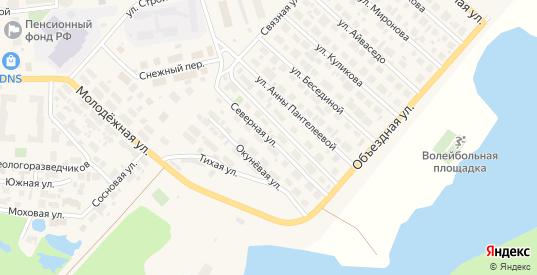 Северная улица в Тарко-Сале с номерами домов на карте. Спутник и схема онлайн