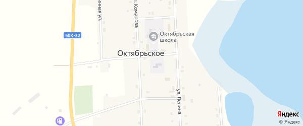 Улица Комарова на карте Октябрьского села Новосибирской области с номерами домов