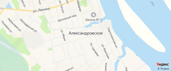 Карта Александровского села в Томской области с улицами и номерами домов