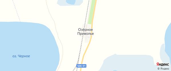 Карта железнодорожного разъезда Озерного Приволья в Новосибирской области с улицами и номерами домов