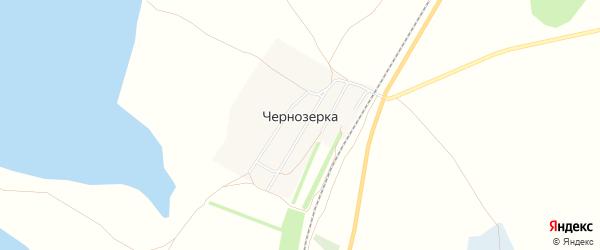 Карта поселка Чернозерки в Новосибирской области с улицами и номерами домов