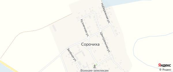 Школьная улица на карте села Сорочихи Новосибирской области с номерами домов