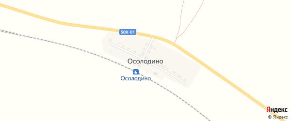 Станционная улица на карте железнодорожной станции Чебачий Новосибирской области с номерами домов