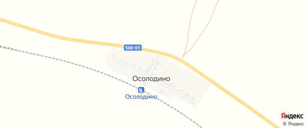 Дорожная улица на карте железнодорожной станции Осолодино Новосибирской области с номерами домов