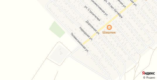 Телевизионная улица в Карасуке с номерами домов на карте. Спутник и схема онлайн