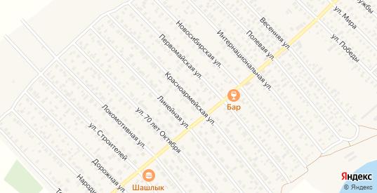 Красноармейская улица в Карасуке с номерами домов на карте. Спутник и схема онлайн