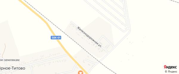 Железнодорожная улица на карте Ягодного поселка Новосибирской области с номерами домов