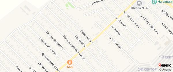 Весенняя улица на карте Карасука с номерами домов