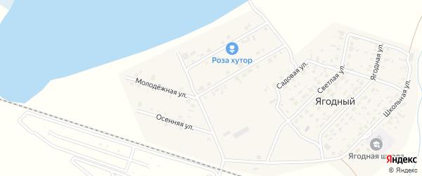 Молодежная улица на карте Ягодного поселка Новосибирской области с номерами домов