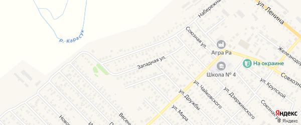 Западная улица на карте Карасука с номерами домов