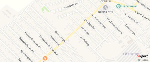Улица Победы на карте Карасука с номерами домов