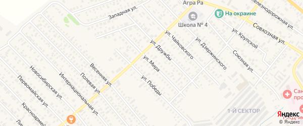 Улица Мира на карте Карасука с номерами домов