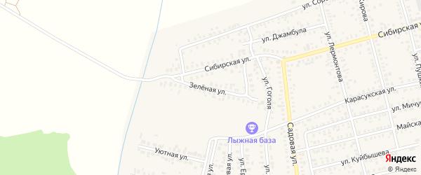 Зеленая улица на карте Карасука с номерами домов