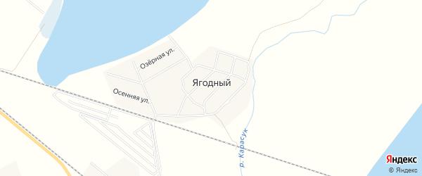 Карта Ягодного поселка в Новосибирской области с улицами и номерами домов