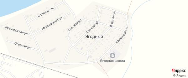 Садовая улица на карте Ягодного поселка Новосибирской области с номерами домов