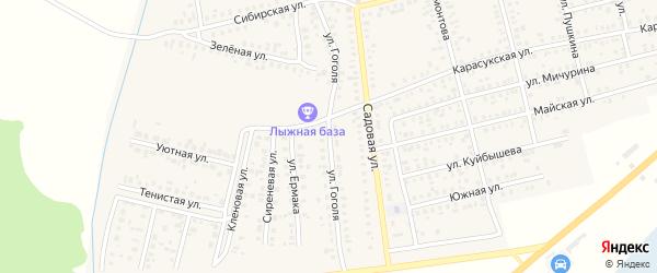Улица Николая Тимошенко на карте Карасука с номерами домов