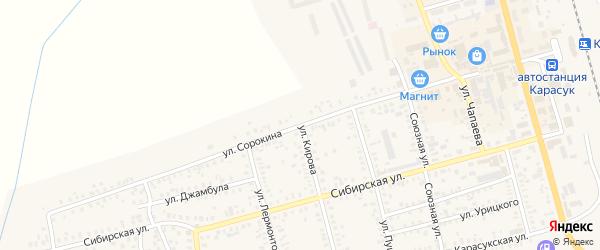 Улица Сорокина на карте Карасука с номерами домов