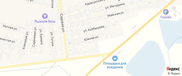 Южная улица на карте Карасука с номерами домов