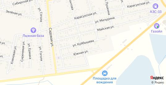 Улица Куйбышева в Карасуке с номерами домов на карте. Спутник и схема онлайн