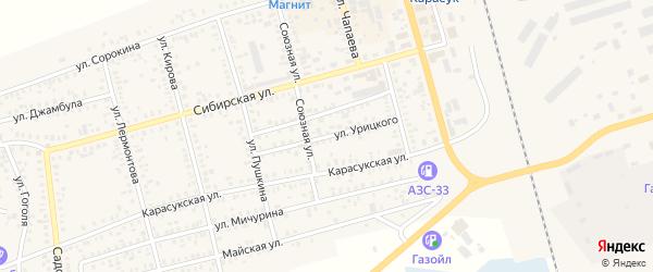 Улица Урицкого на карте Карасука с номерами домов