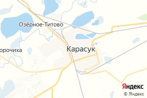 Карта г. Карасук Новосибирская область