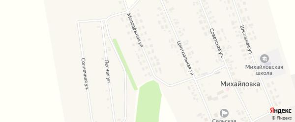 Молодежная улица на карте села Михайловки Новосибирской области с номерами домов