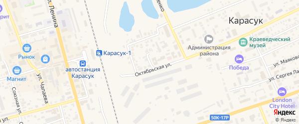 Центральный переулок на карте Карасука с номерами домов