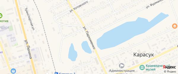 Улица Пархоменко на карте Карасука с номерами домов