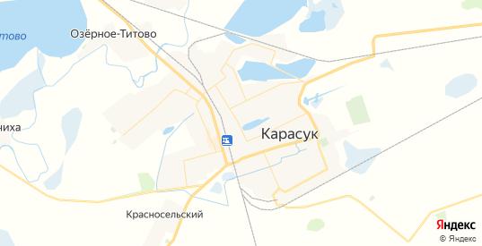 Карта Карасука с улицами и домами подробная. Показать со спутника номера домов онлайн