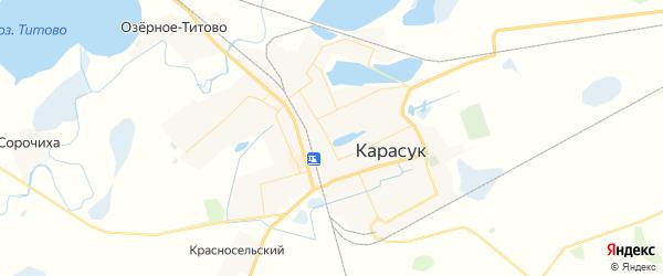 Карта Карасука с районами, улицами и номерами домов