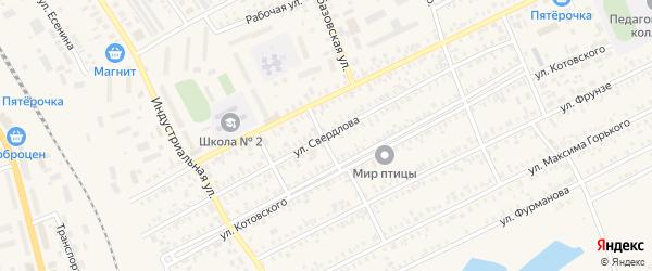 Улица Свердлова на карте Карасука с номерами домов