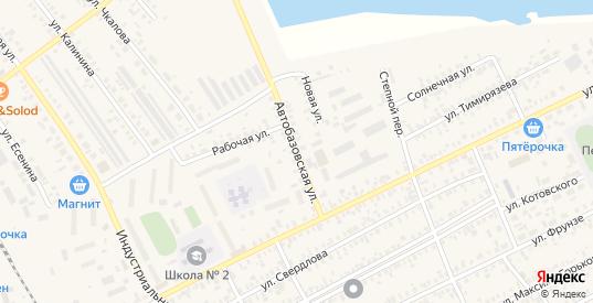 Автобазовская улица в Карасуке с номерами домов на карте. Спутник и схема онлайн