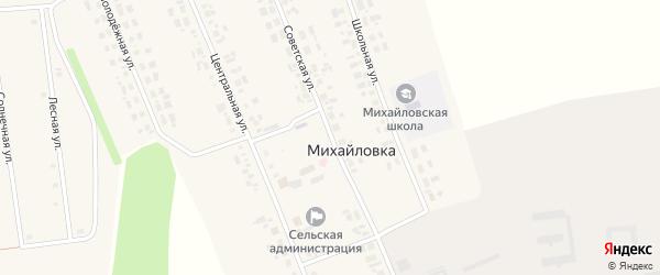 Советская улица на карте села Михайловки Новосибирской области с номерами домов