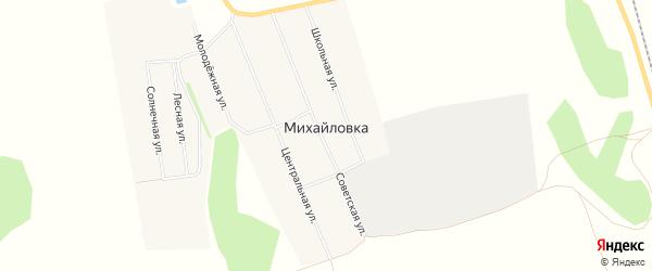 Карта села Михайловки в Новосибирской области с улицами и номерами домов