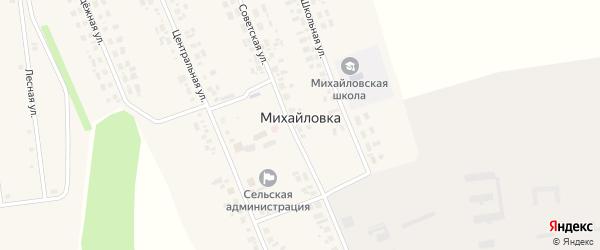 Лесная улица на карте села Михайловки Новосибирской области с номерами домов