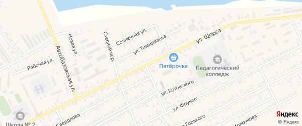 Улица Щорса на карте Карасука с номерами домов