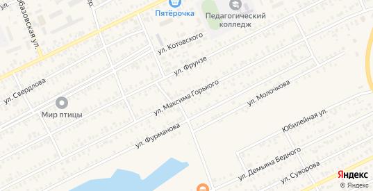 Улица Максима Горького в Карасуке с номерами домов на карте. Спутник и схема онлайн