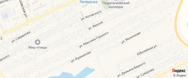 Улица Максима Горького на карте Карасука с номерами домов