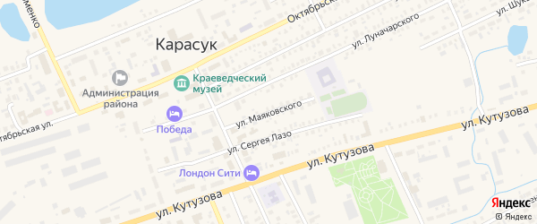 Улица Маяковского на карте Карасука с номерами домов