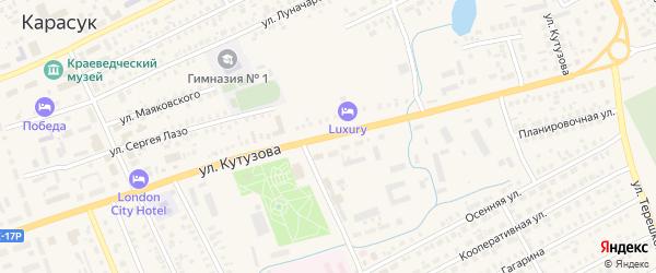 Улица Кутузова на карте Карасука с номерами домов