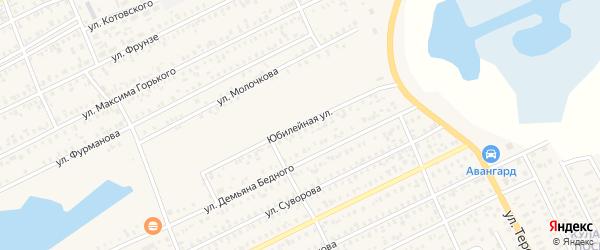 Юбилейная улица на карте Карасука с номерами домов