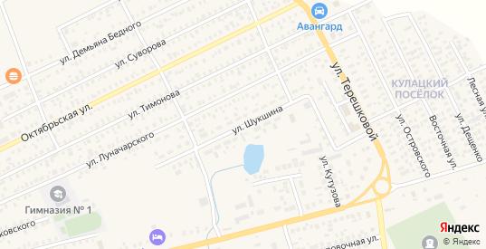 Улица Шукшина в Карасуке с номерами домов на карте. Спутник и схема онлайн