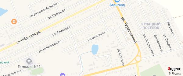 Улица Шукшина на карте Карасука с номерами домов
