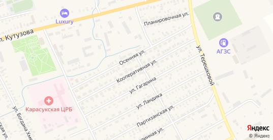 Кооперативная улица в Карасуке с номерами домов на карте. Спутник и схема онлайн
