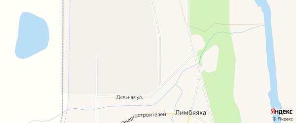 Карта Лимбяяхи города Нового Уренгоя в Ямало-ненецком автономном округе с улицами и номерами домов