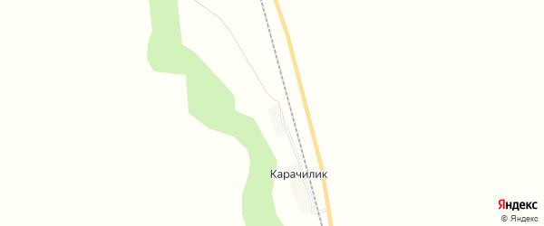 Карта железнодорожного разъезда Карачилик в Новосибирской области с улицами и номерами домов