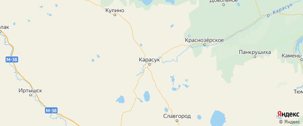 Карта Карасукского района Новосибирской области с городами и населенными пунктами