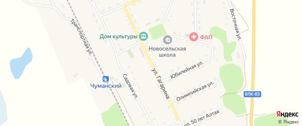 Улица Гагарина на карте Новосельского села с номерами домов