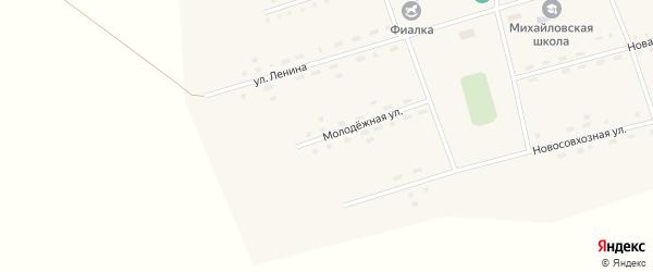 Молодежная улица на карте села Михайловки Алтайского края с номерами домов