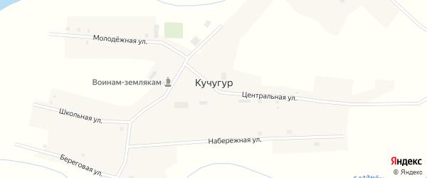 Набережная улица на карте поселка Кучугура Новосибирской области с номерами домов